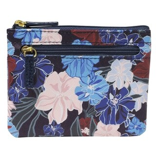Seamless Floral RFID Large I.D. Coin/Card Case