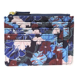 Seamless Floral RFID Slot Coin Pouch