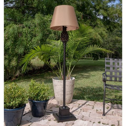 """Whitford Aged Bronze 60-inch Outdoor Floor Lamp - 16"""" Dia. x 60"""" H"""