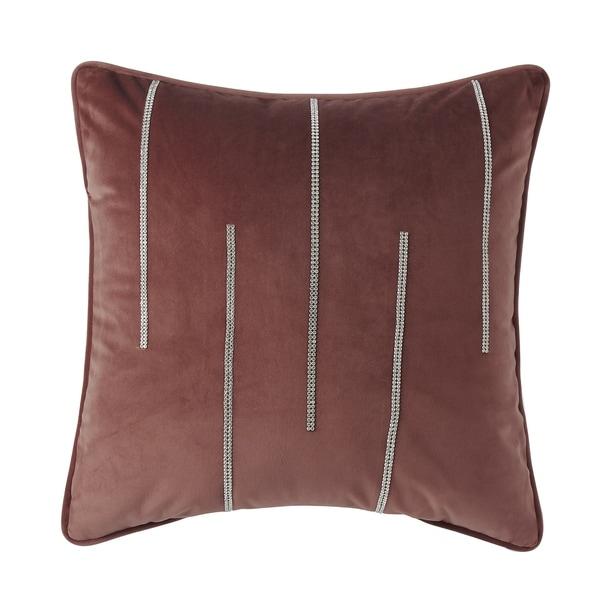 """Velvet"" Double Diamond Striped Accent Pillow (18-in x 18-in)"
