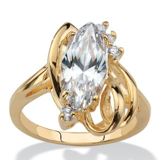 Link to Yellow Gold-Plated Crystal Ring Similar Items in Intimates