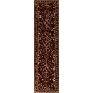 Kafkaz Peshawar Renda Red/Blue Wool Rug (2'8 x 13'4) - 2 ft. 8 in. x 13 ft. 4 in.