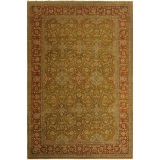 Istanbul Bonita Gold/Rust Wool Rug (9'11 x 13'11) - 9 ft. 11 in. x 13 ft. 11 in.