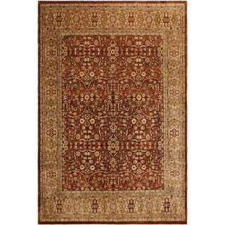 Istanbul Kay Copper/Tan Wool Rug (8'1 x 10'3) - 8 ft. 1 in. x 10 ft. 3 in.