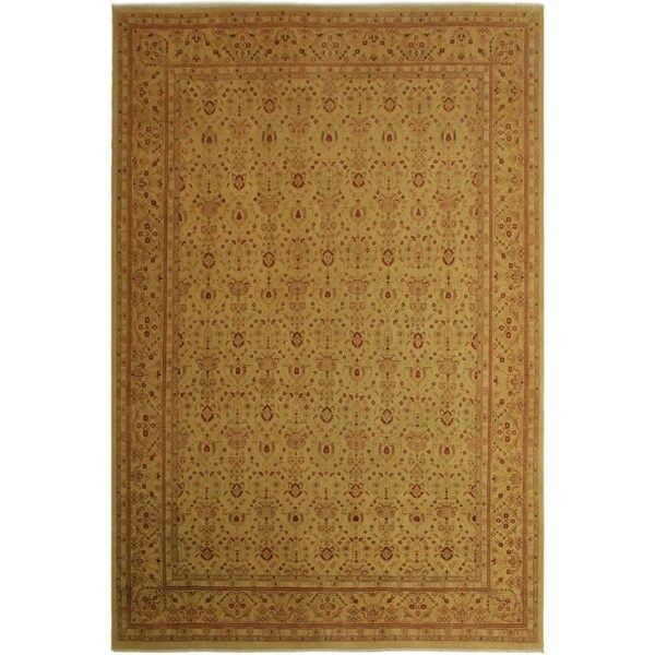 Istanbul Marina Gold/Gold Wool Rug (9'9 x 13'4) - 9 ft. 9 in. x 13 ft. 4 in.
