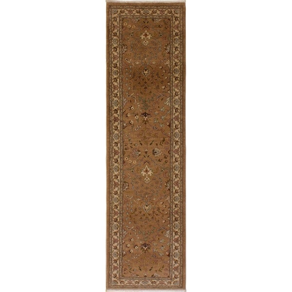 Kashan Istanbul Germaine Gold/Ivory Wool Rug (2'8 x 9'11) - 2 ft. 8 in. x 9 ft. 11 in.