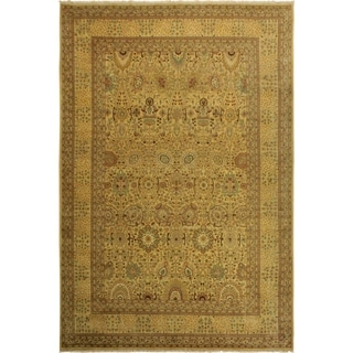 Istanbul Veroniqu Gold/Lt. Gold Wool Rug (10'2 x 14'3) - 10 ft. 2 in. x 14 ft. 3 in.