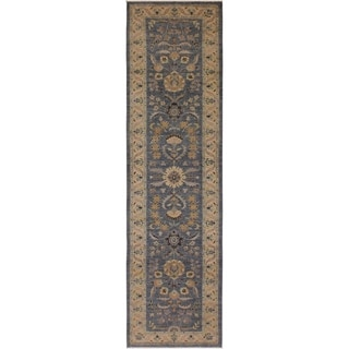 Kafkaz Peshawar Jerrell Gray/Ivory Wool Rug (2'10 x 11'10) - 2 ft. 10 in. x 11 ft. 10 in.