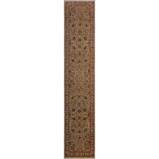 Istanbul George Lt. Gray/Ivory Wool Rug (2'7 x 11'10) - 2 ft. 7 in. x 11 ft. 10 in.