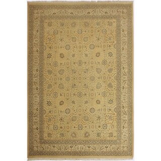 Istanbul Lannie Lt. Gold/Lt. Gold Wool Rug (10'1 x 14'7) - 10 ft. 1 in. x 14 ft. 7 in.