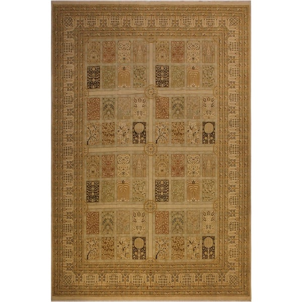 Istanbul Burma Gold/Gold Wool Rug (10'1 x 13'10) - 10 ft. 1 in. x 13 ft. 10 in.