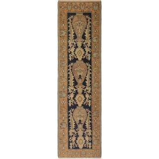 Kafkaz Peshawar Natalia Blue/Rust Wool Rug (3'0 x 8'9) - 3 ft. 0 in. x 8 ft. 9 in.