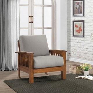 Carson Carrington Klaipeda Mission Style Arm Chair