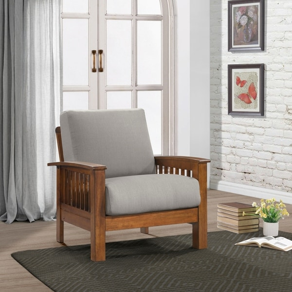 Carson Carrington Fabric Mission Style Arm Chair. Opens flyout.