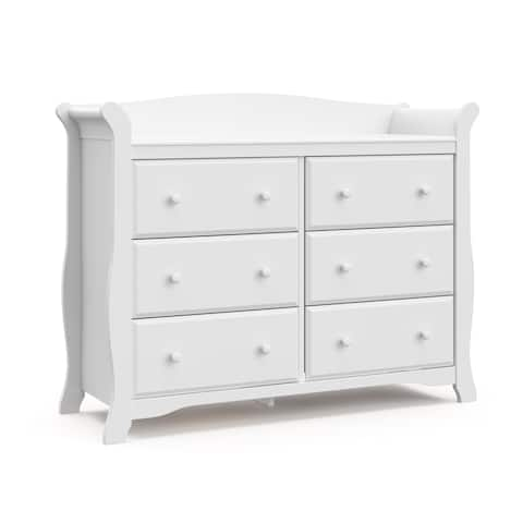 Storkcraft Avalon 6 Drawer Dresser - Elegant Style with 6 Spacious Drawers for Convenient Storage, Easy to Assemble