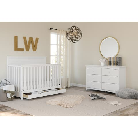 Storkcraft Kenton 6 Drawer Dresser - Classic Style with 6 Spacious Drawers for Convenient Storage, Easy to Assemble