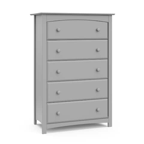 Storkcraft Kenton 5 Drawer Chest - Classic Style with 5 Spacious Drawers for Easy Storage, Easy to Assemble