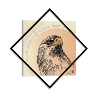 Wooden Printed Eagle Modern Wall Art - 28 x 28