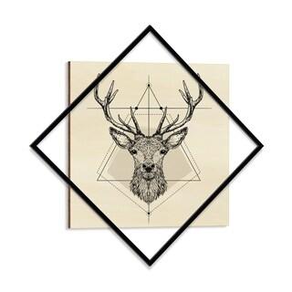 Wooden Printed Majestic Deer Modern Wall Art - 28 x 28