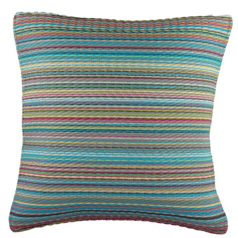 "Handmade Cancun Candy Outdoor Accent Pillow (India) - 16"" x 16"""