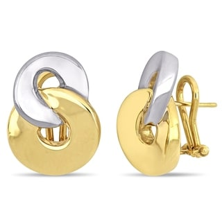 Link to Miadora 18k 2-Tone White and Yellow Gold Flat Interlinked Circle Earrings Similar Items in Earrings