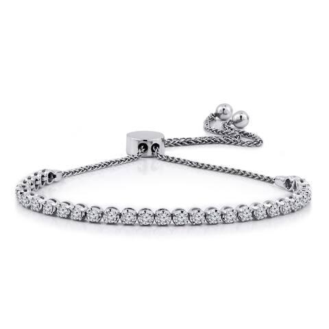 cc418fe2c Auriya Adjustable 1ctw Diamond Bolo Bracelet 14k Gold