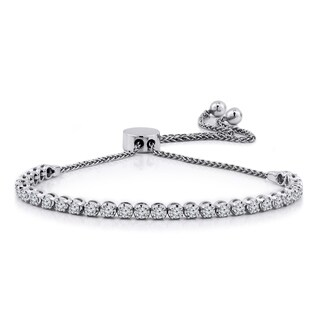 Auriya Adjustable 1ctw Diamond Bolo Bracelet 14k Gold