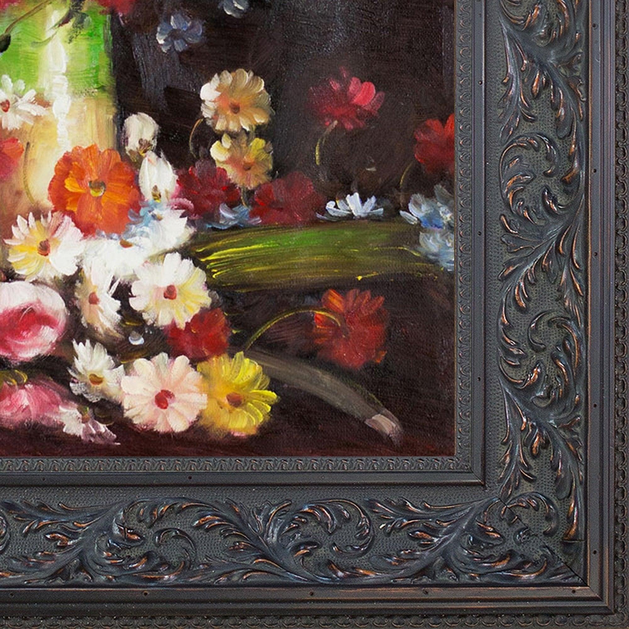 VASE WITH POPPIES DAISIES CORNFLOWERS PEONIES FLOWERS PAINTING BY VAN GOGH REPRO