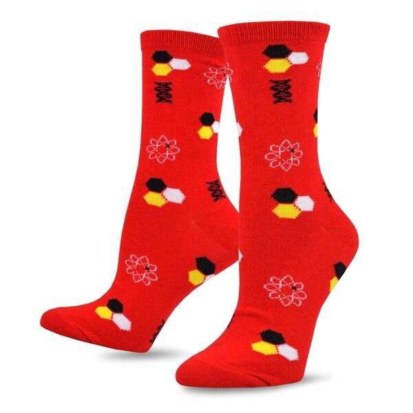 TeeHee Novelty Cotton Crew Fun Socks 5-Pack for Women