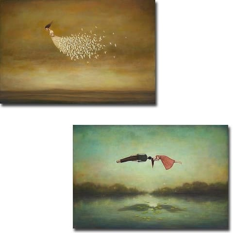 Freeform & Dreamers Meeting Place by Duy Huynh 2-piece Gallery Wrapped Canvas Giclee Art Set (Ready to Hang)