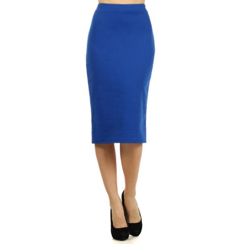 c802a993501 Women s Career Office Midi Stretchy Pencil Skirt