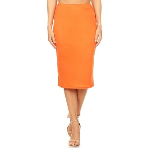 Women's Career Office Midi Stretchy Pencil Skirt