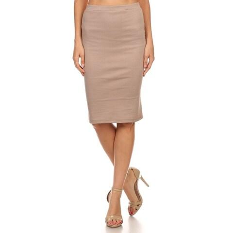 Women's Career Office Midi Stretchy Pencil Skirt