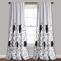 "Lush Decor Stripe Bear Room Darkening Window Curtain Panel Pair - 52""W x 84""L"