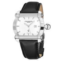Charriol Men's CCHTXL.361.HTX001 'Actor' Silver Dial Black Leather Strap Quartz Watch