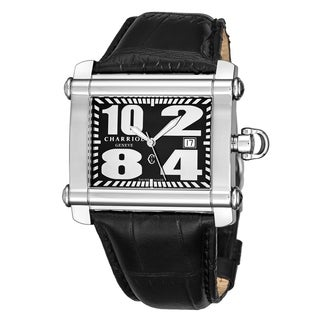 Charriol Men's CCHXL.361.HX018 'Actor' Black Dial Leather Strap Quartz Watch