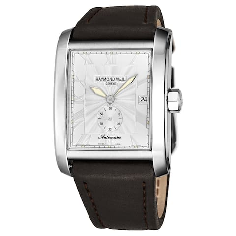 661c88c65 Raymond Weil Men's 2875-STC-00658 'Don Giovanni' Silver Dial Brown Leather