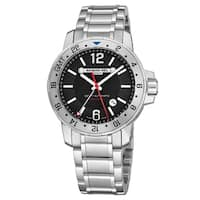 Raymond Weil Men's 3800-ST-05207 'Nabucco' Black Dial Stainless Steel GMT Automatic Watch
