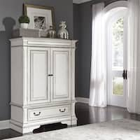 The Gray Barn Bevers Bay Antique White Wood Door Chest