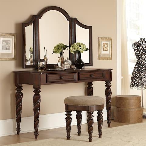 Gracewood Hollow Sulkuqi Brownstone Vanity Mirror
