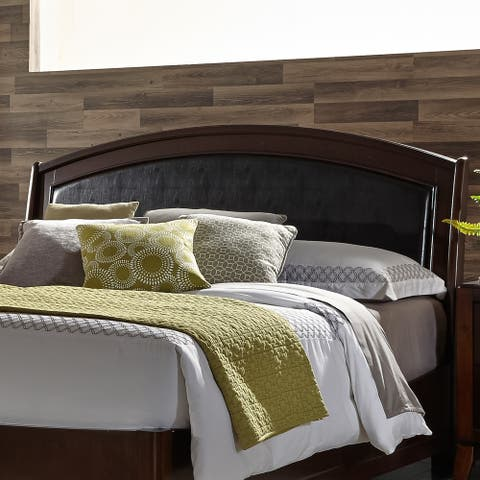 Liberty Avalon Dark Truffle King Panel Leather Headboard