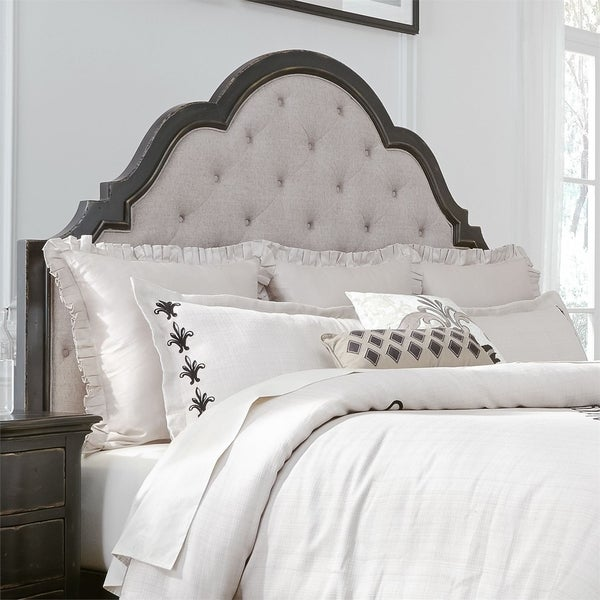 Chesapeake Wire Brushed Antique Black King Upholstered Headboard. Opens flyout.