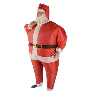 """ALEKO Christmas Inflatable Santa Claus Costume With Beard and Hat - for adults - 5' to 6'2"""""""