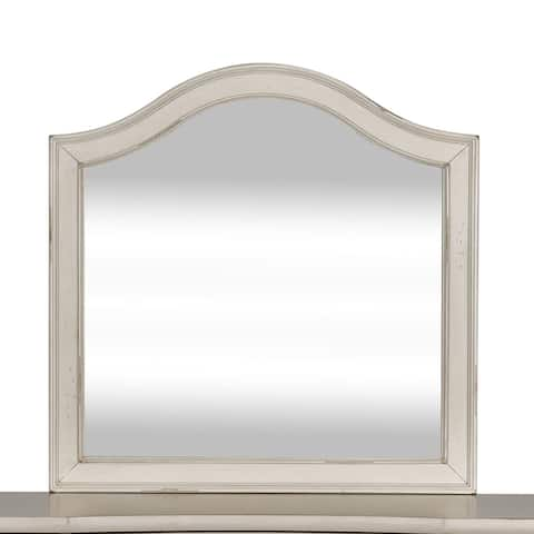 Rustic Traditions White Vanity Desk Mirror