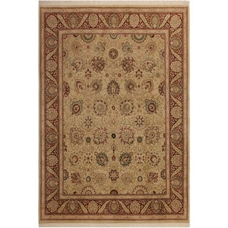 Pak-Persian Yessenia Ivory/Red Wool Rug (8'2 x 10'7) - 8 ft. 2 in. x 10 ft. 7 in.