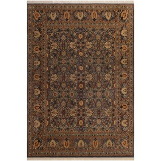 Pak-Persian Shera Lt. Blue/Gray Wool Rug (7'11 x 10'8) - 7 ft. 11 in. x 10 ft. 8 in.