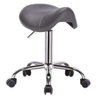Mercury Adjustable Height Massage Stool with Wheels