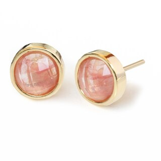 Sonia Hou Fire 3-Way Convertible 24K Gold Gemstone Stud Earrings