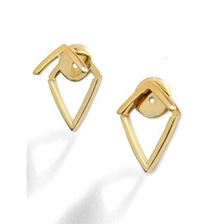 Sonia Hou Trill 2-Way Convertible 18K Gold Over Sterling Silver Vermeil Ear Jacket Earring