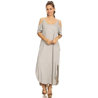 Women's Solid Casual Loose Fit Jersey Knit A-Line Dress